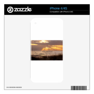 Happy Retirement - Florida Ocean Sunset iPhone 4 Skins