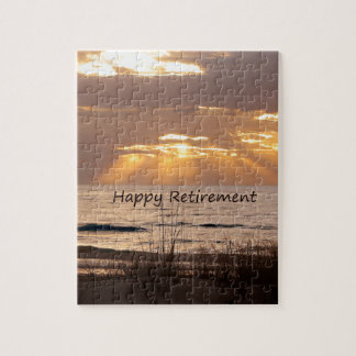 Happy Retirement - Florida Ocean Sunset Jigsaw Puzzle