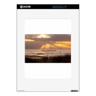 Happy Retirement - Florida Ocean Sunset Skins For iPad