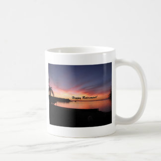 Happy Retirement Florida Sunset Coffee Mug