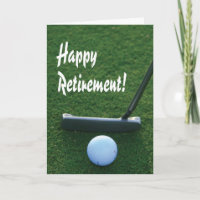 Happy Retirement for golfer Card