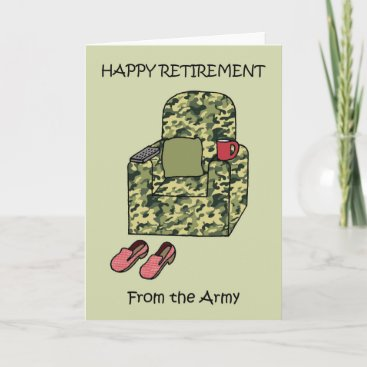 Happy Retirement from the Army Card