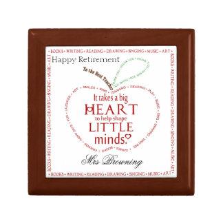 Happy retirement gift teacher jewelry box
