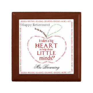 Happy retirement gift teacher trinket box