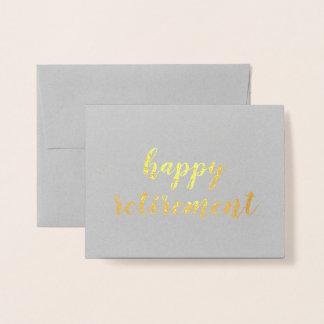 Happy Retirement Gold Foil Brush Brushstroke Foil Card