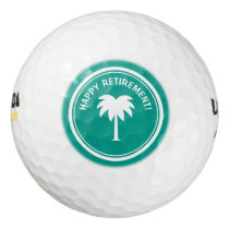 Happy Retirement golf ball set for retired person