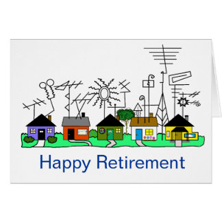 Happy Retirement Ham Radio Card   Customize It!