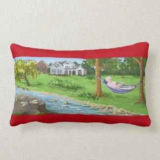 Happy Retirement Lady in Hammock Pillow
