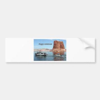 Happy Retirement: Lake Powell Houseboat, USA Bumper Sticker