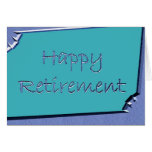 Happy Retirement Leaving work Sleeping cat Greeting Cards