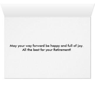 Happy Retirement Over Ocean Card