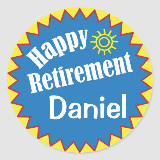 Happy Retirement Party Personalized Classic Round Sticker