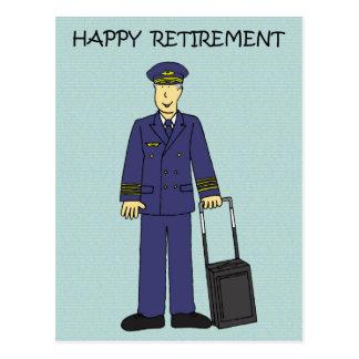 Happy Retirement Pilot Postcard