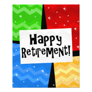 retirement flyers zazzle