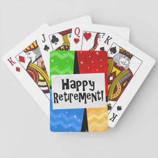 Happy Retirement, Primary Color Squares Party Card Deck