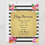 Happy Retirement Quote Farewell Gift Card