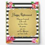 Happy Retirement Quote Farewell Gift Plaque