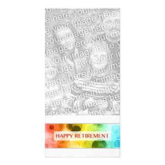 happy retirement (rainbow bokeh) card