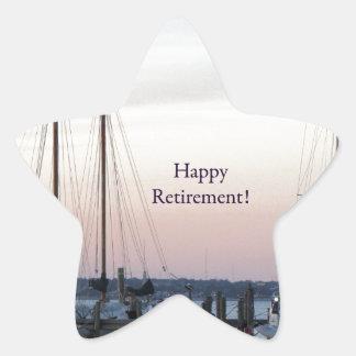 Happy Retirement Sailboats Sea Star Sticker