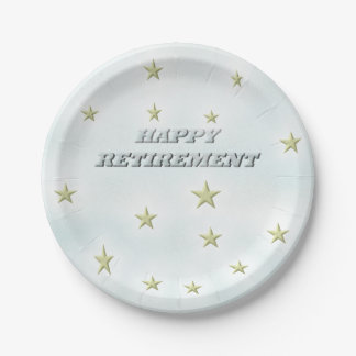 Happy Retirement Stars Paper Plate  sc 1 st  Zazzle & Retiring Plates   Zazzle