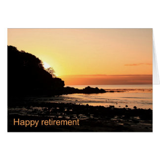 Happy retirement sunset in Scotland Card
