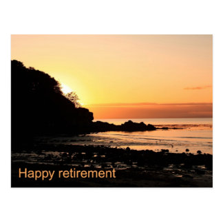 Happy retirement sunset in Scotland Postcard