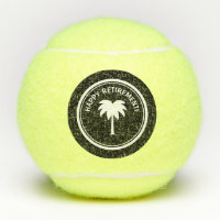 Happy Retirement tennis ball set for the retired