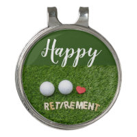 Happy Retirement to golfer with golf ball Golf Hat Clip