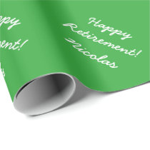 Happy Retirement wrapping paper with custom name