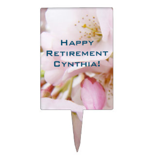 Happy Retirement Your name Cake Toppers Desserts