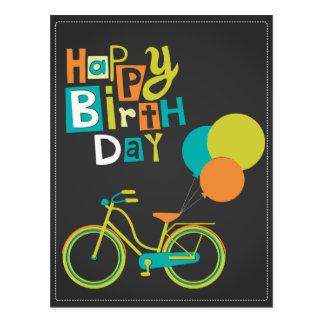 Happy Retro Birthday Postcard