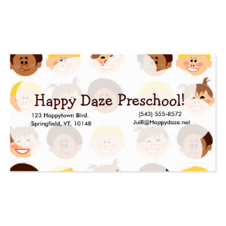 Happy Retro Kids Too Double-Sided Standard Business Cards (Pack Of 100)