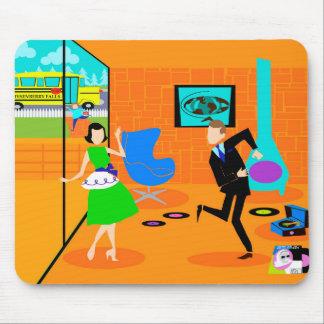 Happy Retro Parents Mousepad