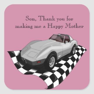 Happy Reverse Mother's Day Square Sticker