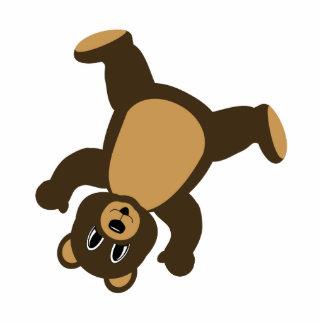 Happy Right Tumbling Brown Bear Cutout