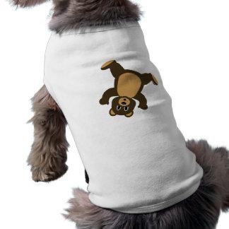 Happy Right Tumbling Brown Bear Doggie Shirt