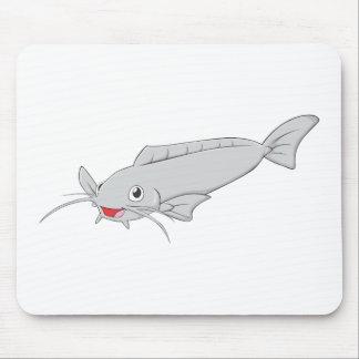 Happy River Catfish Cartoon Mouse Pad