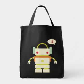 Happy Robot Canvas Bag