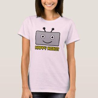 Happy Robot (gray) T-Shirt