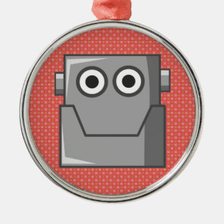 HAPPY ROBOT HEAD METAL ORNAMENT