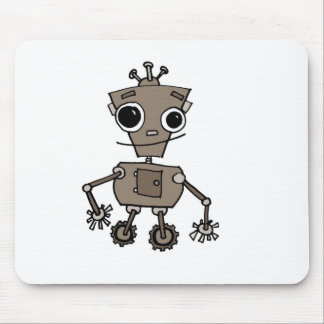 Happy Robot Mouse Pad