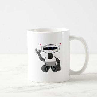 Happy Robot Classic White Coffee Mug