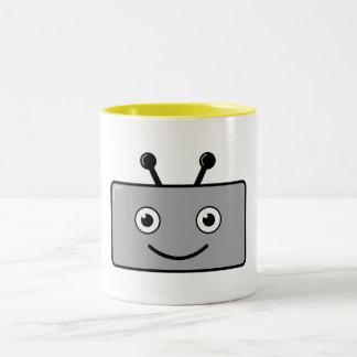 Happy Robot Two-Tone Coffee Mug