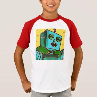 Happy Robot Retro Kids Shirt