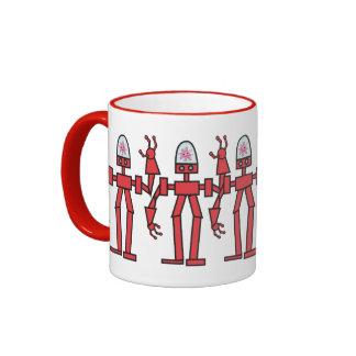 Happy Robot Ringer Coffee Mug