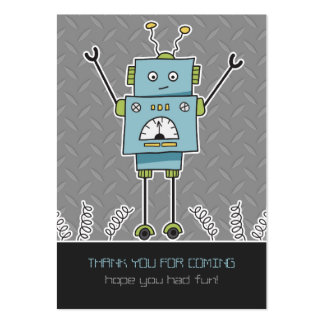 Happy Robot & Springs Party Favor Thank You Cards Large Business Cards (Pack Of 100)