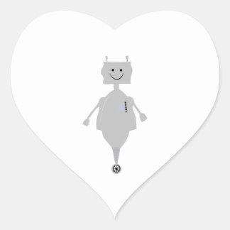 Happy Robot Heart Sticker