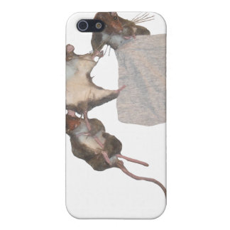 Happy Rodents (white) iPhone SE/5/5s Cover