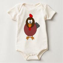Happy Rooster Baby Bodysuit