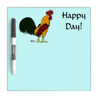 Happy Rooster Dry Erase Boards